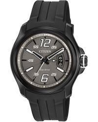 Citizen - Men's Eco-drive Black Rubber Strap Watch - Lyst