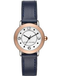 Marc Jacobs - Women's Riley Leather Strap Watch, 28mm - Lyst