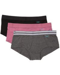 C&C California Maddy Boyshorts Panties - Pack Of 3 - Multicolor