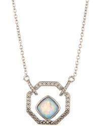 Judith Jack - Sterling Silver Swarovski Crystal & Opal Pendant Necklace - Lyst