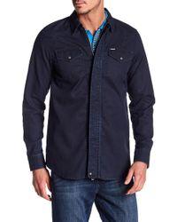 DIESEL - Jaden Zip Shirt - Lyst