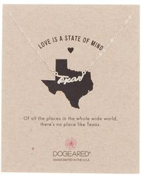 Dogeared - Sterling Silver Love Is A State Of Mind Texas Necklace - Lyst