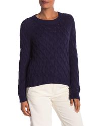 INHABIT - Cable Knit Sweater - Lyst