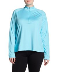 Nike | Core Half Zip Shirt (plus Size) | Lyst