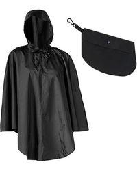 Shedrain Packable Rain Poncho - Black