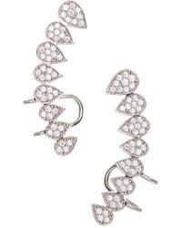 Sevil Jewelry - Sterling Silver Climber Earrings - Lyst