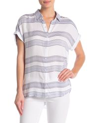 971418be791 Lyst - Beach Lunch Lounge Spencer Short Sleeve Camp Shirt in Blue
