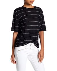 Michelle By Comune - Elbow Sleeve Stripe Tee - Lyst