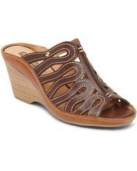 Pikolinos - Capri Leather Wedge Sandal - Lyst