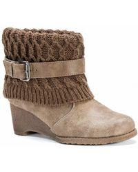 Muk Luks | Deena Faux Fur Lined Wedge Boot | Lyst