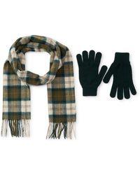 Barbour - Scarf & Gloves Set - Lyst