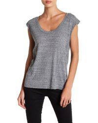 IRO - Dici Ribbed Knit Scoop Tee - Lyst