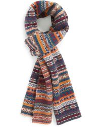 Barbour - 'martingale' Fair Isle Wool Scarf - Lyst