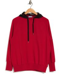 RED Valentino Daisy Dot Mesh Hood Pull-over - Red
