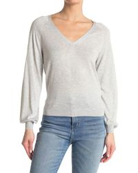 7 For All Mankind V-neck Sweater - Gray