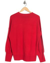 French Connection Balloon Sleeve Crew Neck Sweater - Red