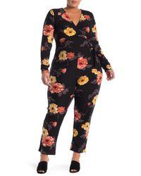 Derek Heart - Jersey Faux Wrap Waist Jumpsuit (plus Size) - Lyst
