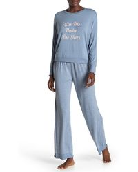 Honeydew Intimates Wonder Love Top & Constellation Pants Pajama 2-piece Set - Blue