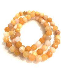 Charlene K | Stackable Golden Jade Beaded Bracelets - Set Of 3 | Lyst