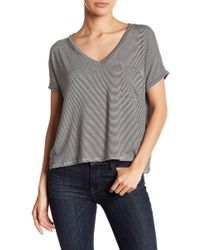 Project Social T - Striped V-neck Pocket Tee - Lyst