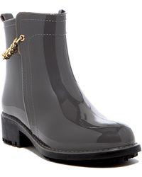 Nicole Miller - Chain Rain Boot - Lyst