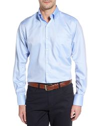 Peter Millar Crown Soft Pinpoint Regular Fit Shirt - Blue