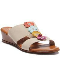 Italian Shoemakers - Kaira Wedge Sandal - Lyst