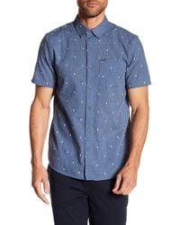 Volcom - Gladstone Short Sleeve Modern Fit Woven Shirt - Lyst