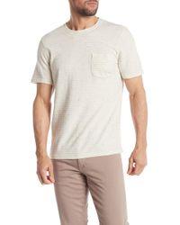 Wallin & Bros. - Short Sleeve Yarn Dye Stripe Print Pocket T-shirt - Lyst