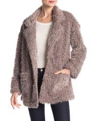 B Collection By Bobeau - Salma Faux Fur Jacket - Lyst