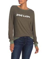 Wildfox Dog Lady Baggy Beach Sweatshirt - Multicolour