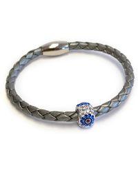 Liza Schwartz - Original Triple Wrap Silver Premium Leather Bracelet - Lyst