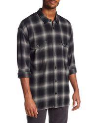 Vince - Ombre Buffalo Plaid Trim Fit Shirt - Lyst
