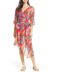 Red Carter Eliza Cover-up Wrap Dress - Red