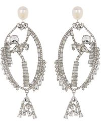 BaubleBar Sweetfin Drop Earrings - Metallic