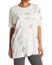 The Laundry Room Tie Dye Oversized Sleep T-shirt - White