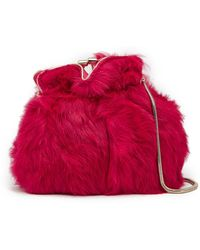 Trina Turk - Petite Sumo Genuine Dyed Rabbit Fur Crossbody Bag - Lyst