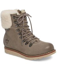 Royal Canadian Lethbridge Waterproof Snow Boot With Genuine Shearling Cuff (women) - Gray