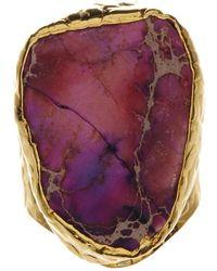 Charlene K Purple Jasper Cigar Ring - Multicolor