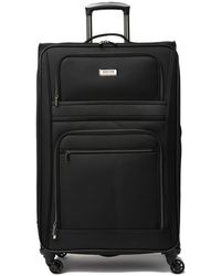"Kenneth Cole Dobby 28"" 1680d Poly 4-wheel Expandable Checked Luggage - Black"