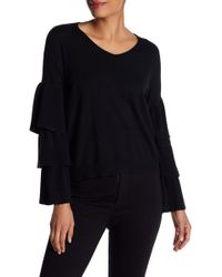 Dreamers By Debut - Tiered Bell Sleeve Sweater - Lyst