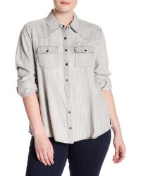 Foxcroft - Western Style Button Down (plus Size) - Lyst