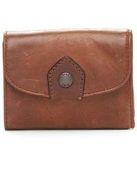 Frye - Melissa Medium Trifold Leather Wallet - Lyst