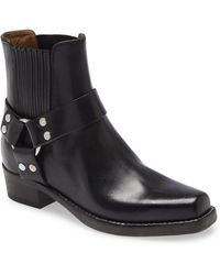 RE/DONE Leather Cavalry Bootie - Black