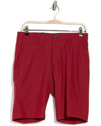 7 Diamonds Agility Mid Rise Shorts - Red
