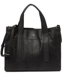 T Tahari Gotham Leather Satchel - Black