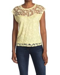 Laundry by Shelli Segal Burn Out Top - Yellow