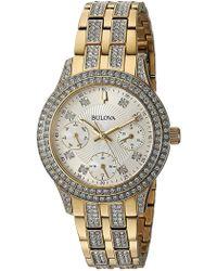 Bulova - Women's Crystal Accented Watch, 33mm - Lyst