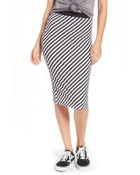 Volcom - Futures Past Stripe Skirt - Lyst