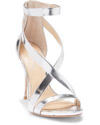 Imagine Vince Camuto - Devin Strappy Leather Stiletto Sandal - Lyst